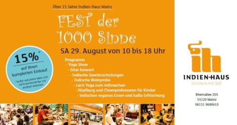 29082015 Fest Der 1000 Sinne Indien Haus Mainz