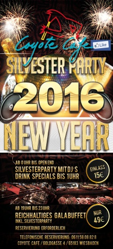 31122015 Silvester 2016 Coyote Cafe Wiesbaden