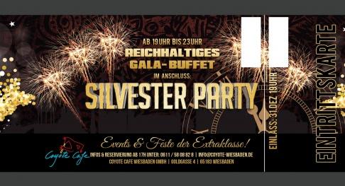 31122016 Gala Büffet Silvesterparty Coyote Cafe Wiesbaden