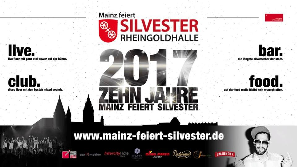 mainz feiert silvester 2017 rheingoldhalle mainz. Black Bedroom Furniture Sets. Home Design Ideas