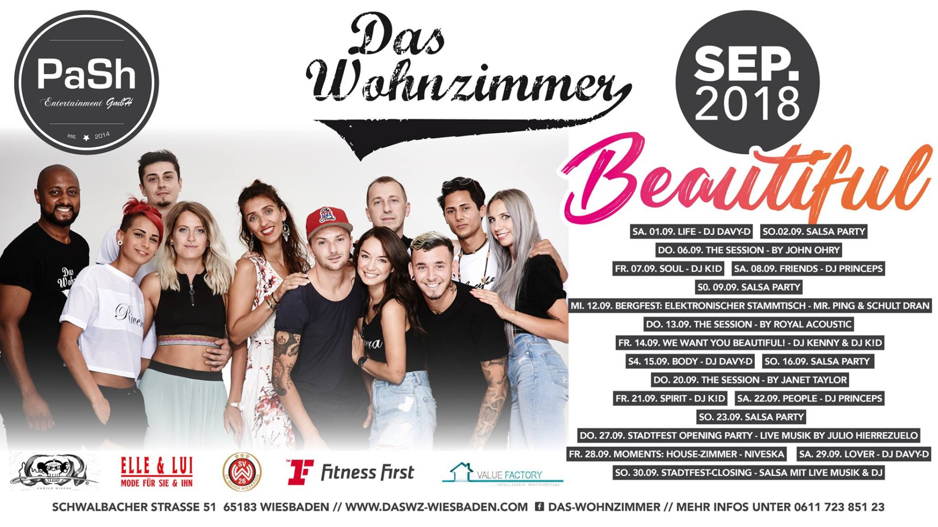 15092018 Beautiful Body Party With Dj Davy D Das Wohnzimmer