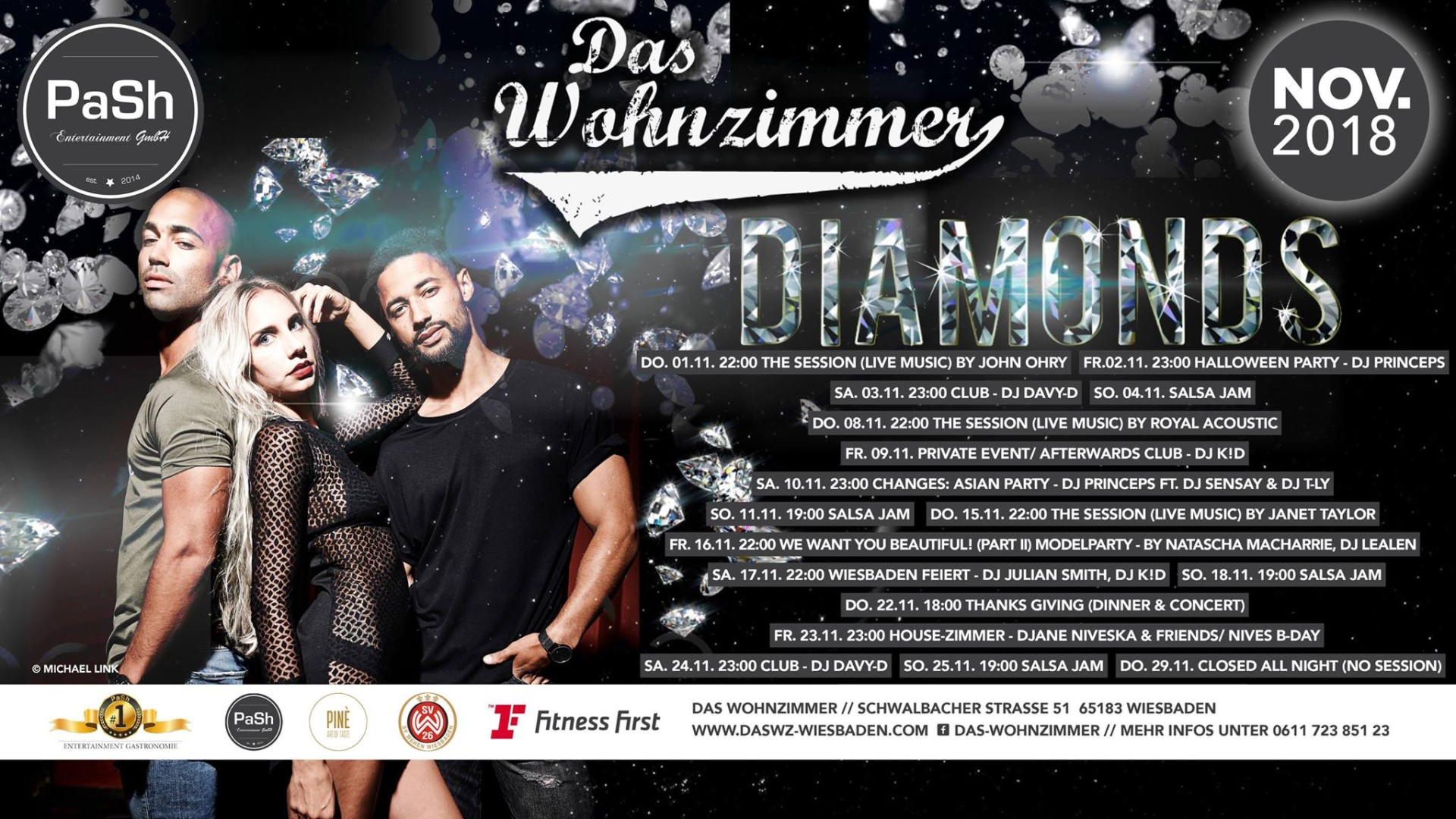 24 11 2018 Diamonds Party With Dj Davy D Das Wohnzimmer Wiesbaden