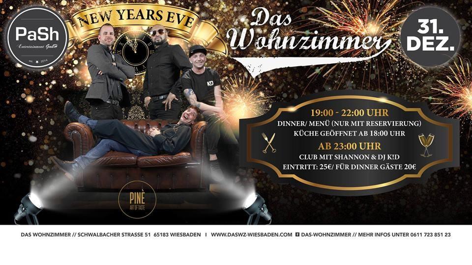 31.12.2018 - new years eve: party, das wohnzimmer, wiesbaden