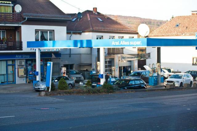 Tankstelle von Außen