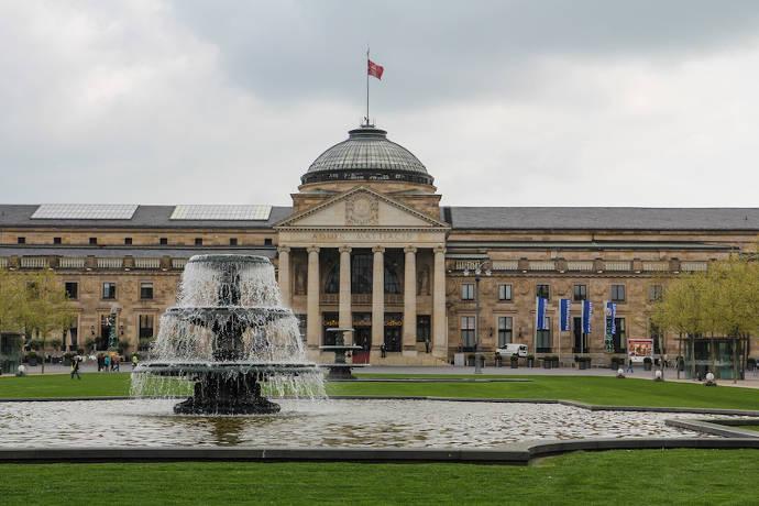 Wiesbaden, Kurhaus, Brunnen, Sppringbrunnen, Stadtmitte, Kurpark