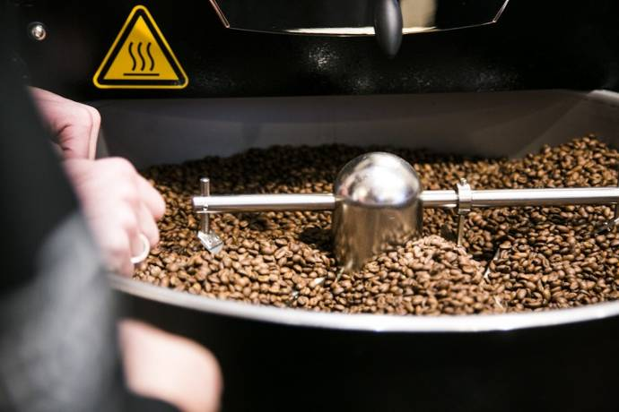 Kaufmanns Kaffee, Geschäft, Kafeemaschinen, Kaffee, Rösterei, Röstung