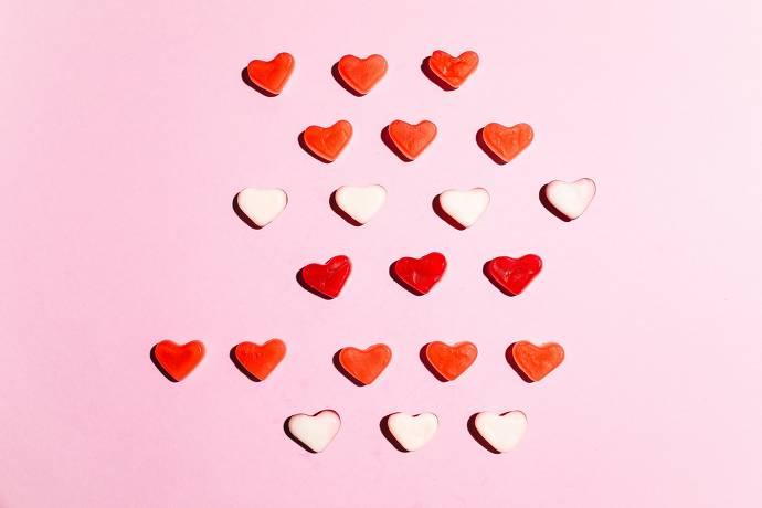 Herzen, Gummibärchen, Süßigkeiten