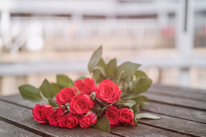 Rosen, Blumen schenken