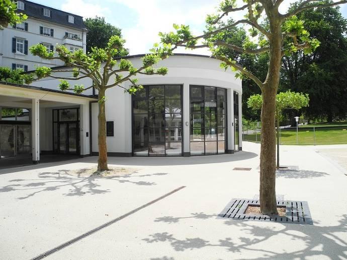 Weinbrunnen, Bad Schwalbach, Bäume, Kurpark
