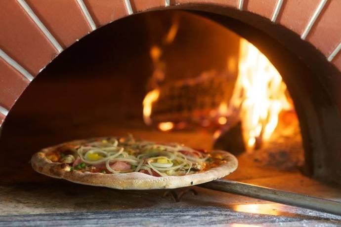 Steinofen, Pizza, Feuer, Essen