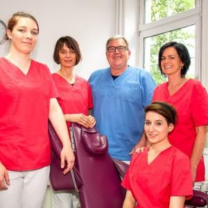 Team, Mitarbeiter, Arzthelferinnen, Zahnarzt