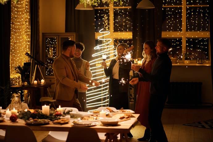 Weihnachtsfeier, Weihnachtsdeko, Weihnachtsessen