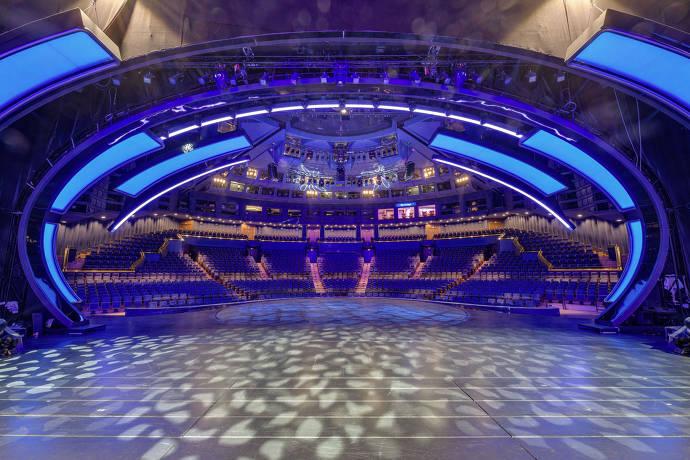 Blick von der größten Theaterbühne der Welt
