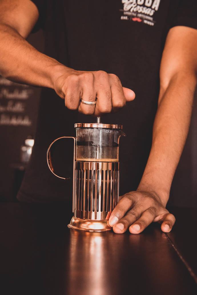 Babba Rossa's benutzt verschiedene Methoden für ihre Kaffee Herstellung