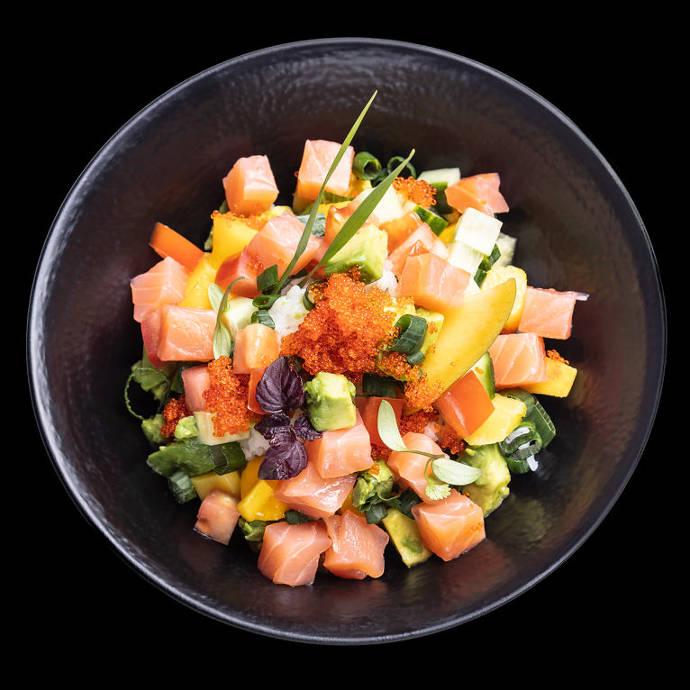fisch, bowl, gesund