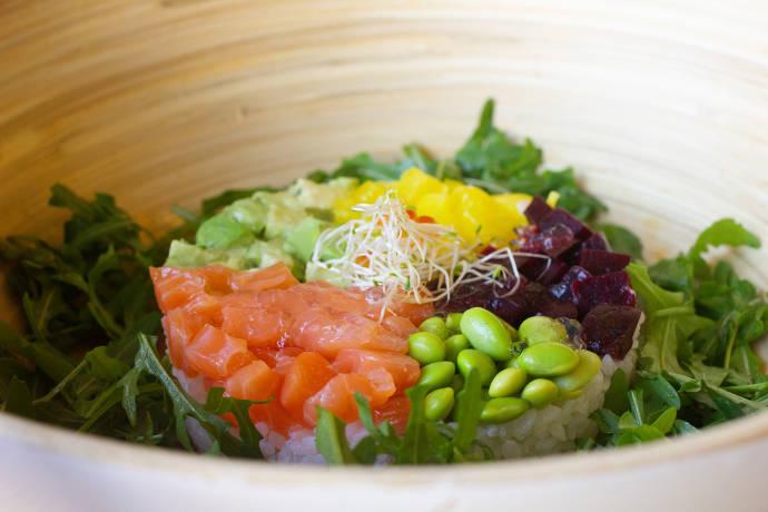 lachs, bowls, avocado, gesund