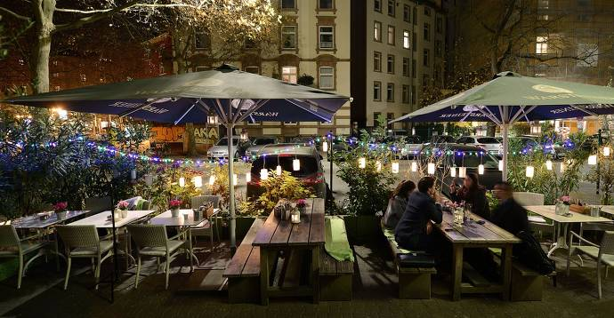 terrasse, außenbereich, restaurant, cafe