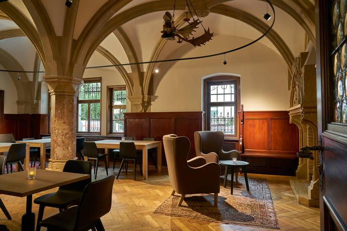 klassisch, innenbereich, cafe