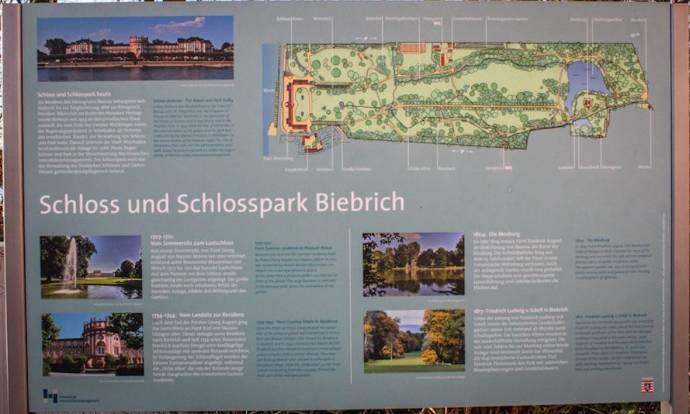 Außenansicht, Biebricher Schloss, Wiesbaden, Plan, Lageplan