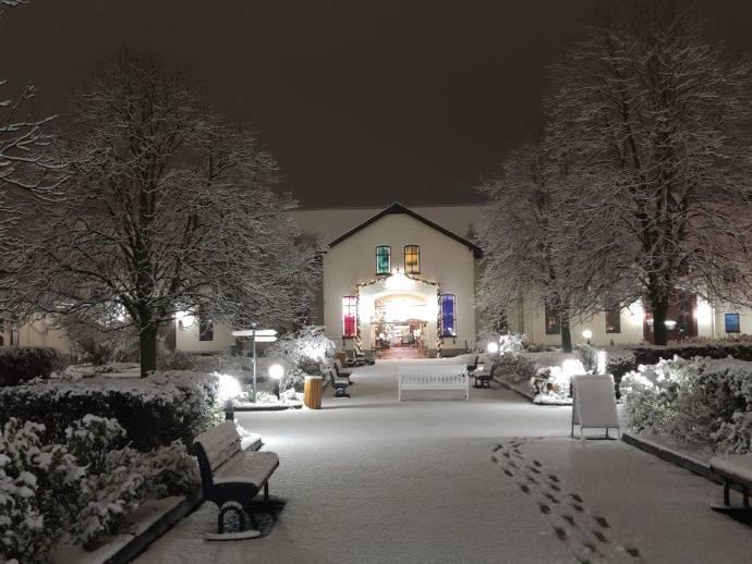Außenbereich, Winter, Domäne, Hofgut