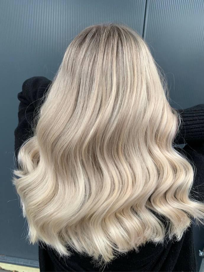 Frisur, blond, Haare, Mainz, Friseur
