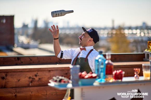 Bartender, Cocktail, Rooftop, Skyline