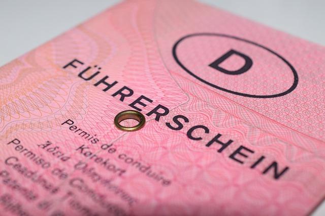 Deutscher Führerschein, altes Design, rosa