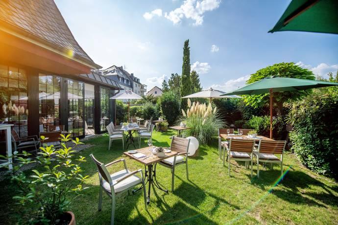 Terrasse, Natur, Tisch, Stühle