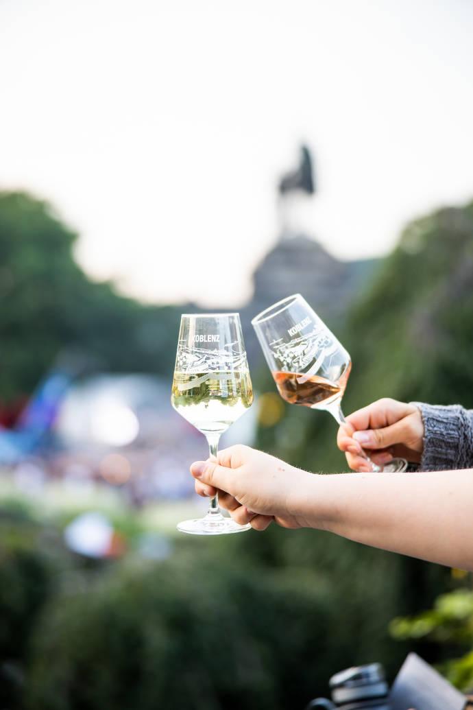 Wein, Weingläser, Deutsches Eck