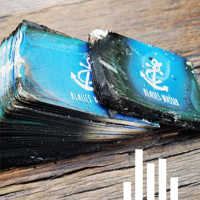 Verbranntes Blaues Wasser-Material