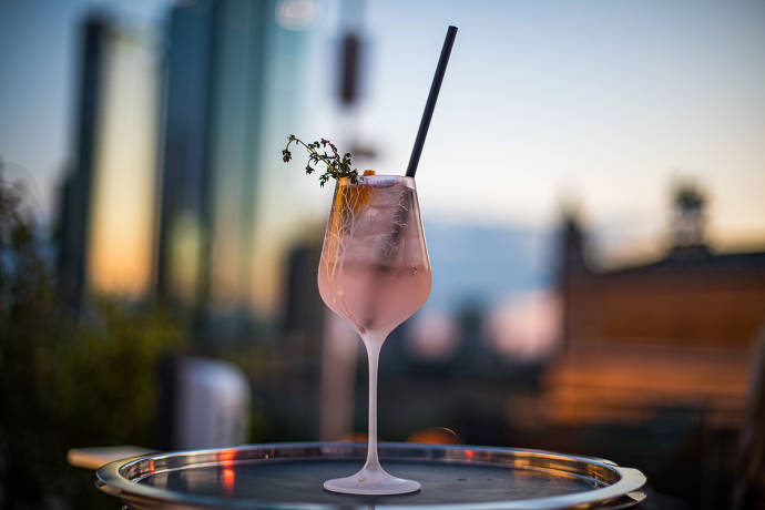 Roof Top Bar Cocktails