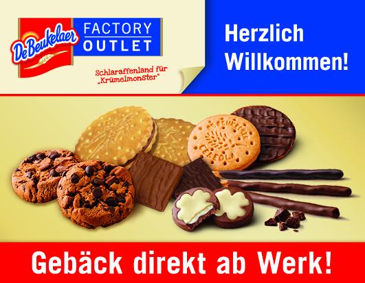 Werbebanner des DeBeukelaer Factory Outlets