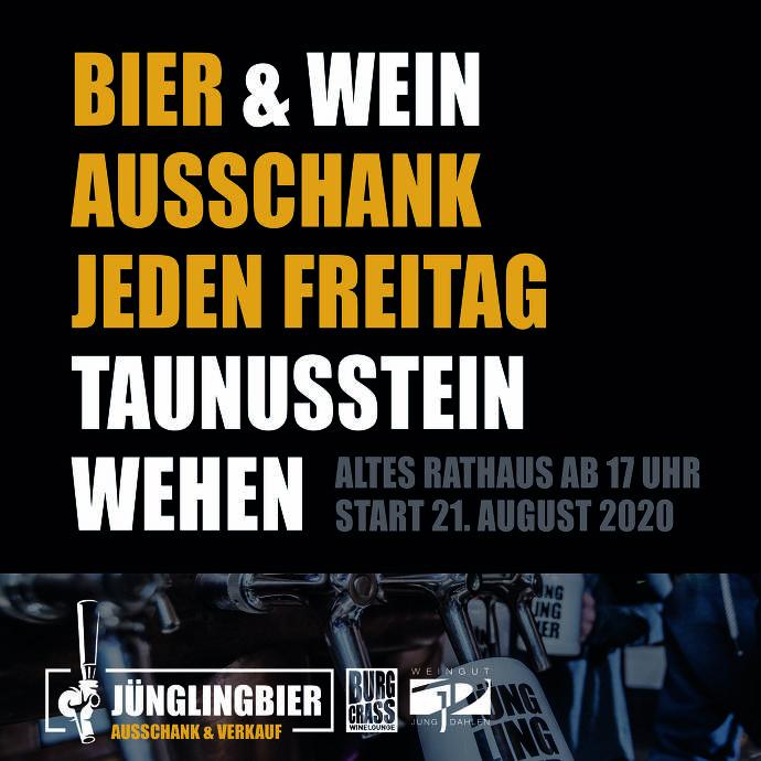 Plakat Bier- und Wein-Ausschank