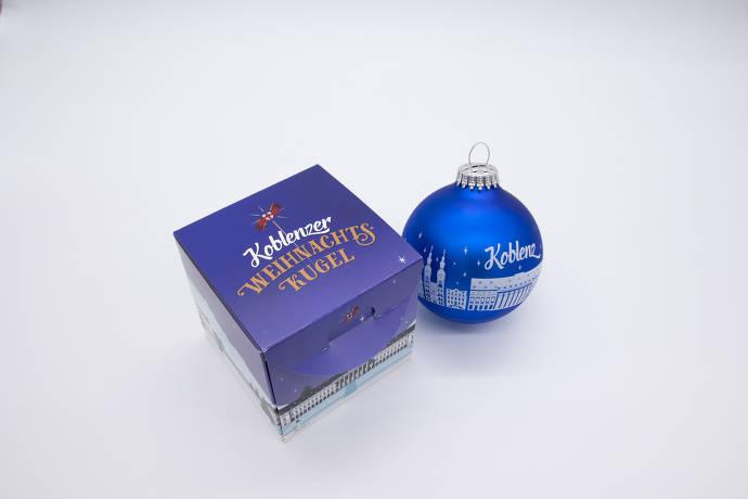 Weihnachtskugel mit Verpackung