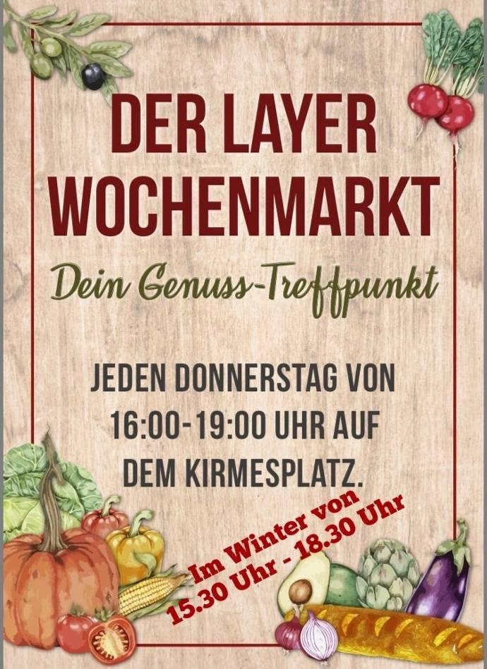Wochenmarkt Layer Flyer