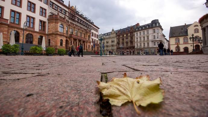 Marktplatz in der Wiesbadener Innenstadt