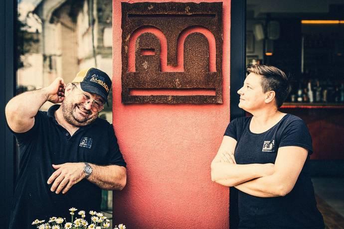 Die Inhaber des Restaurants Ambach in Idstein