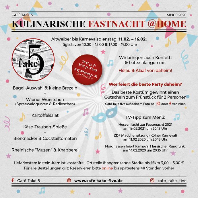 Flyer Fastnach @home