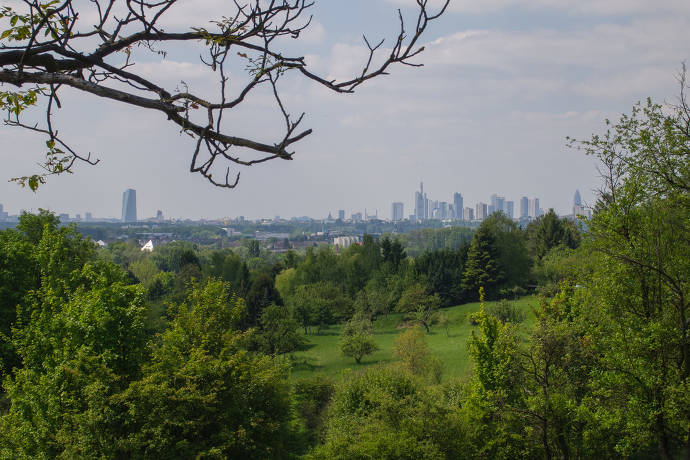 Grüngürtel, Frankfurt, Landschaft, Natur, Skyline