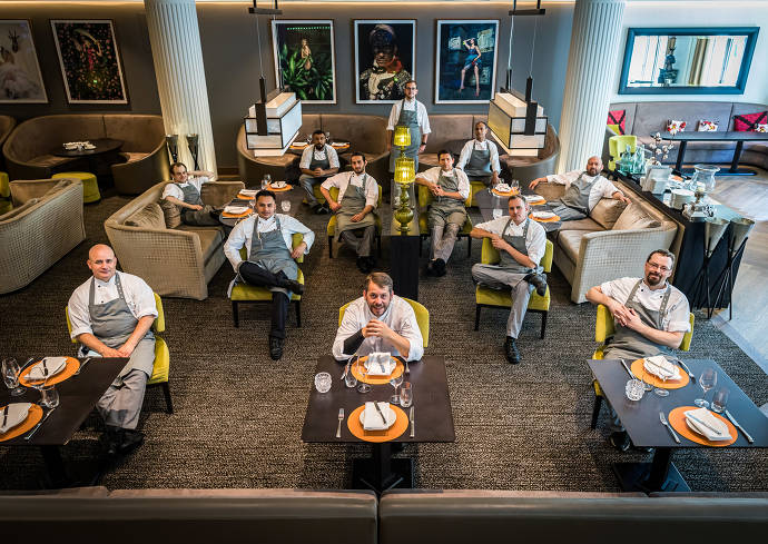 Kulinarik-Team des Restaurant Schönemann im Sofitel Frankfurt Opera