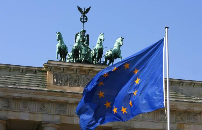 Europa, Flagge, Europa-Falgge, Bundestag, Gebäude, Sehenswürdigkeit, Berlin