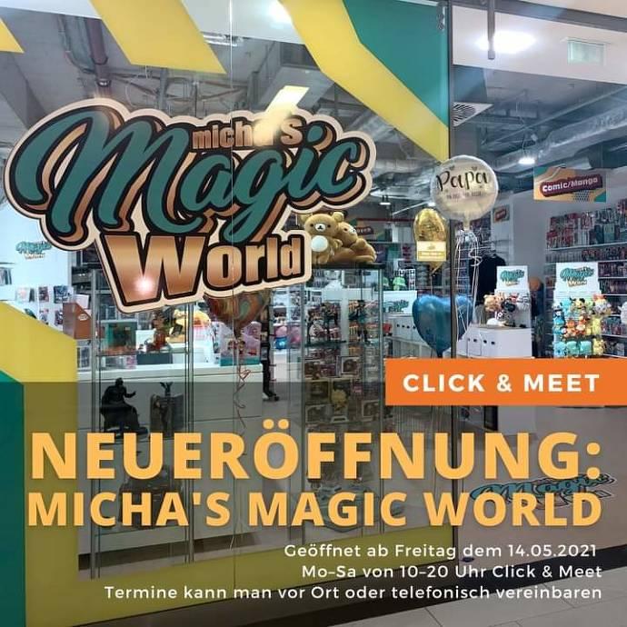 Merchindise, Michas Magic World, Laden von außen