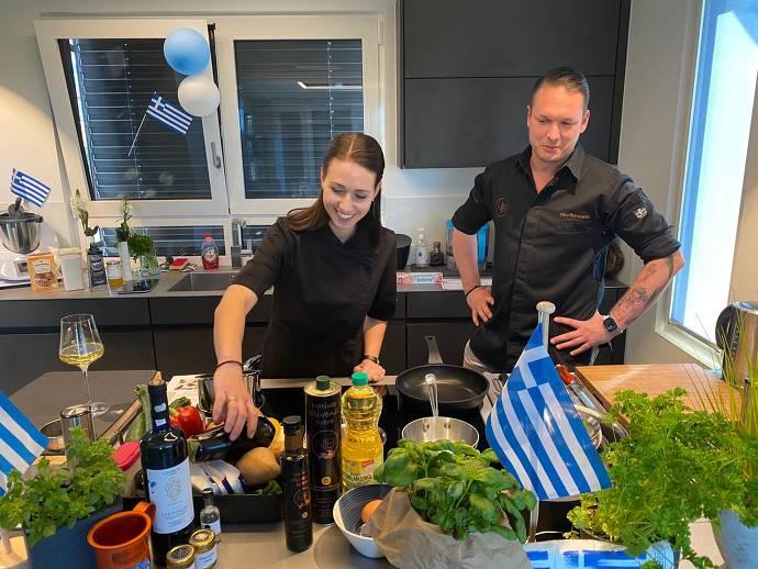 Nico Burkhardt, Kochen, griechisch. Kochkurs