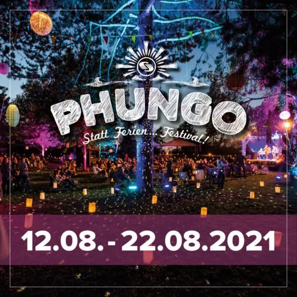 Flyer, Festivalgelände bei Nacht