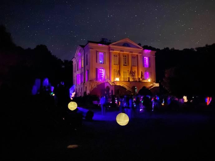 Schloss Freudenberg bei Nacht