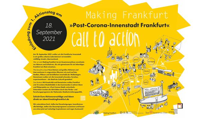 Plakat, gelb, weiß, Text, Innenstadt, Stationen