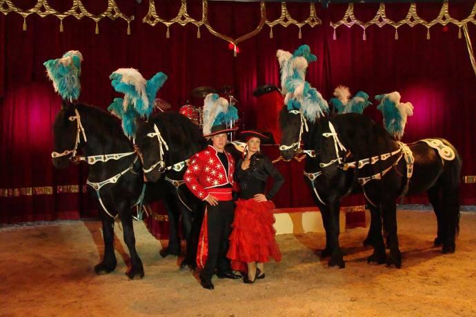Circus, Pferde, Paar