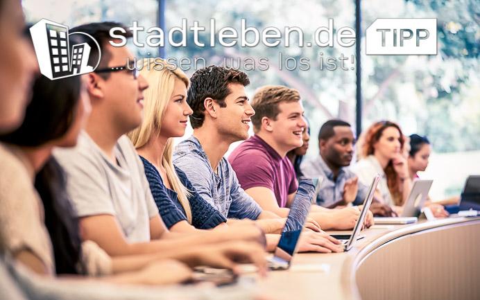 Studium, Bildung, Rhein-Main, Studierende, Seminar, Laptops, Erklärung, Hörsaal