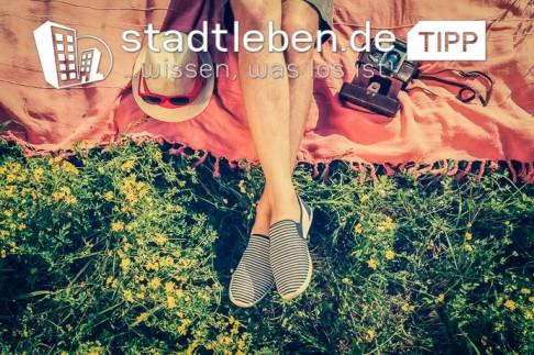 Gras, Bein, Schuh, Sommer, gutes Wetter
