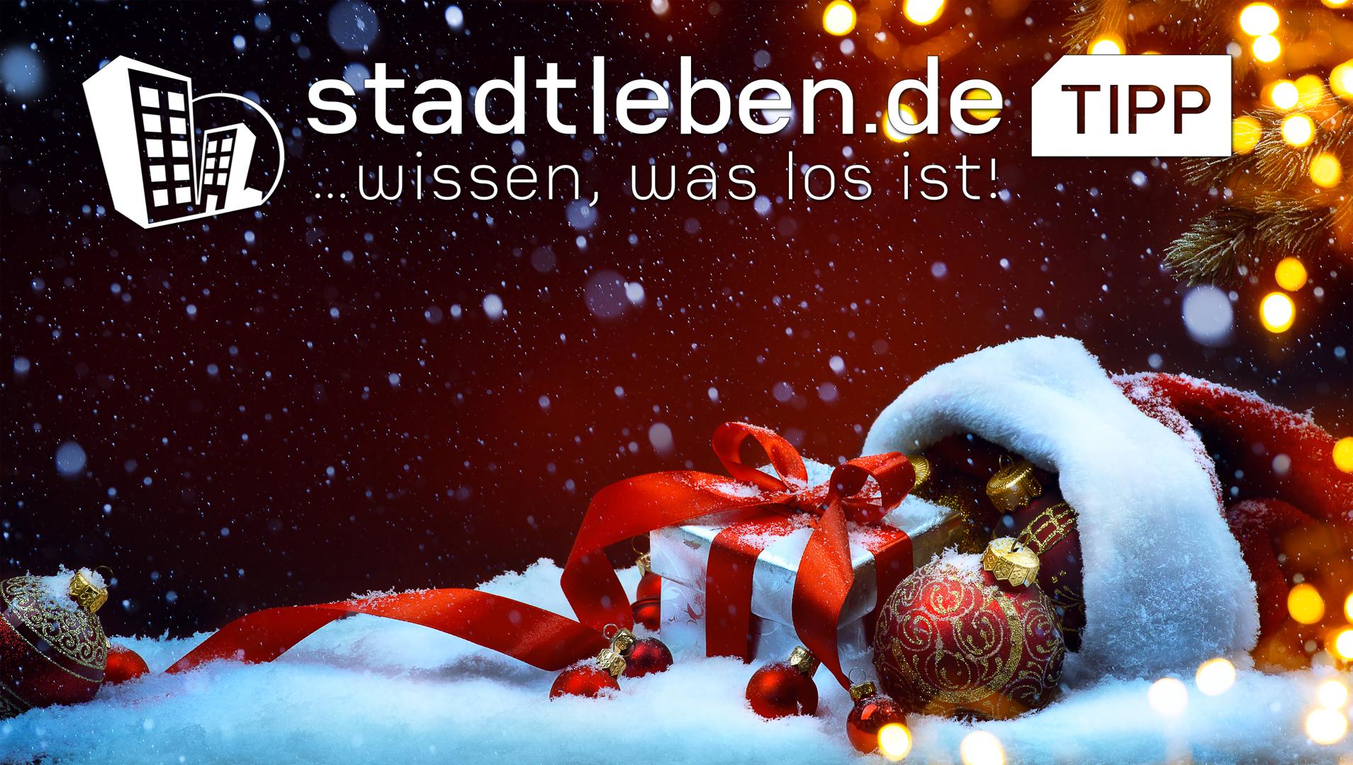 Geschenke, Weihnachten, geschmückt, Schnee